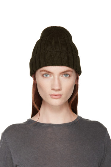 MM6 Maison Margiela - Green Ribbed Beanie