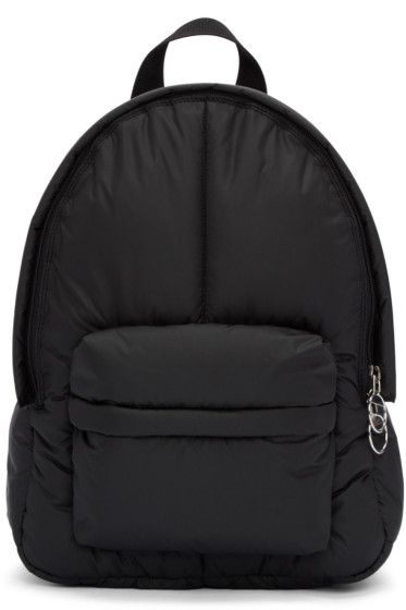 MM6 Maison Margiela - Black Puffy Backpack