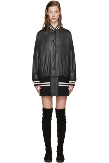 MM6 Maison Margiela - Black Reversible Bomber Jacket