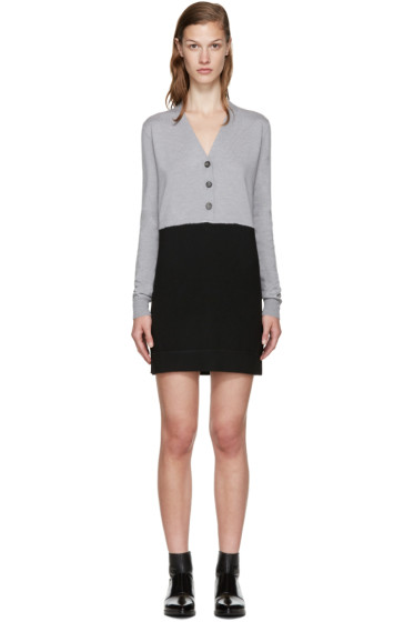 MM6 Maison Margiela - Grey & Black Wool Dress