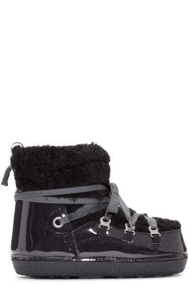 MM6 Maison Margiela - Black Teddy Ankle Boots