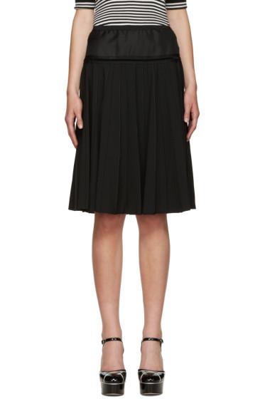 Marc Jacobs - Black Pleated Wool Skirt