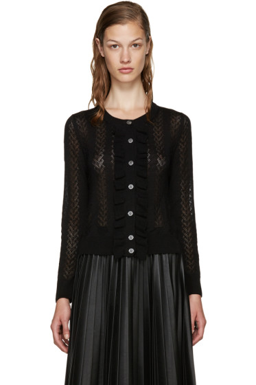 Marc Jacobs - Black Knit Ruffle Cardigan