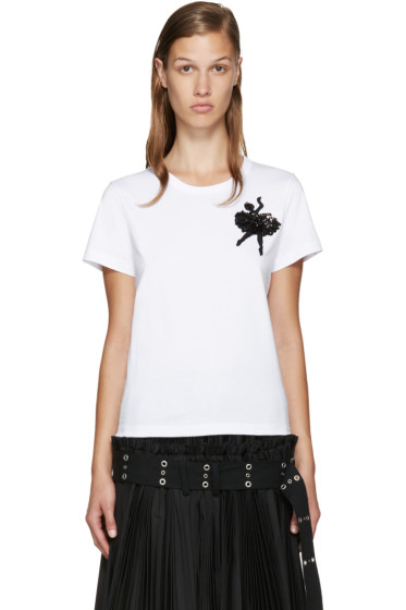 Marc Jacobs - White Ballerina Appliqué T-Shirt