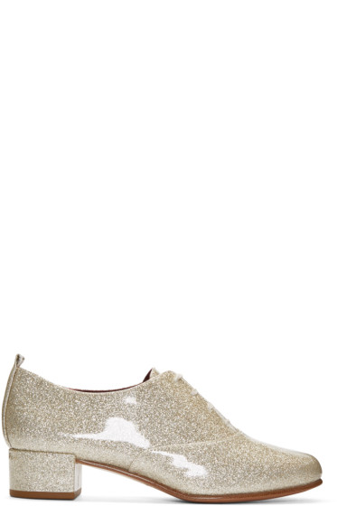 Marc Jacobs - Silver Glitter Betty Oxfords