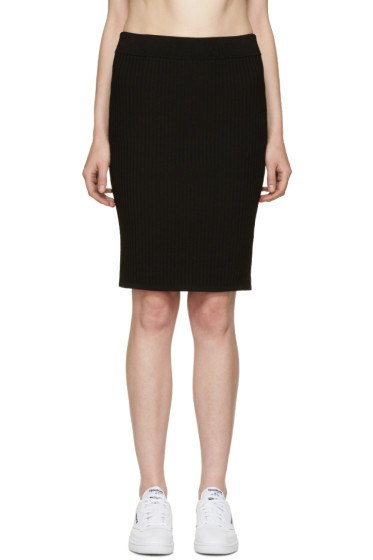 T by Alexander Wang - Black Ribbed Skirt