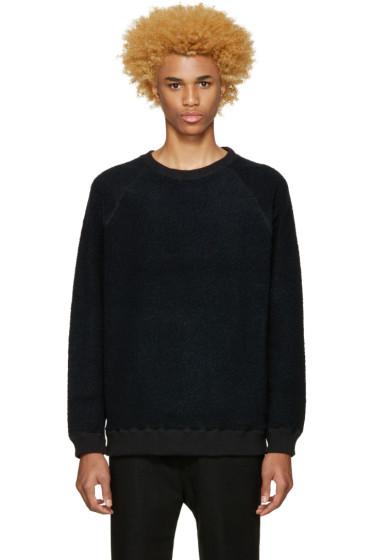 Robert Geller - Black Textured Pullover