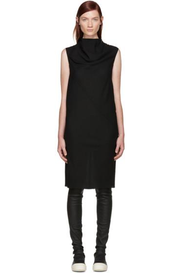 Rick Owens - Black Wool Mesh Bonnie Dress