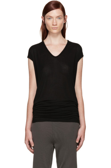 Rick Owens - Black Jersey Floating T-Shirt