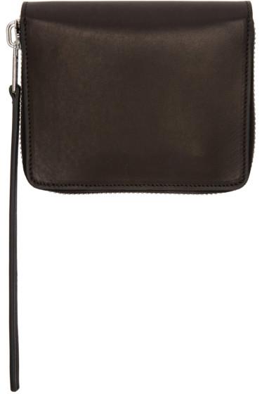 Rick Owens - Black Small Zippered Wallet