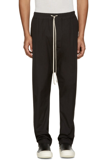 Rick Owens - Black Drawstring Lounge Pants