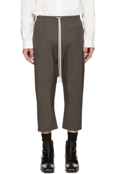 Rick Owens - Grey Cropped Trousers
