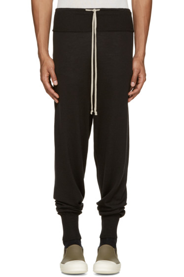 Rick Owens - Black Wool Lounge Pants