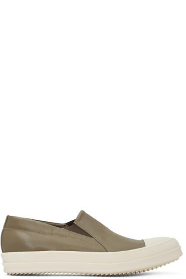 Rick Owens - Taupe Boat Slip-On Sneakers