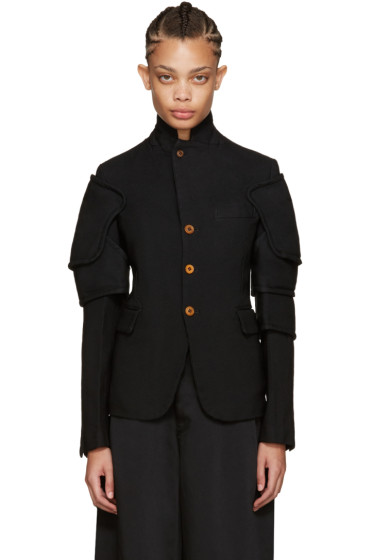 Comme des Garçons - Black Panelled Sleeve Jacket