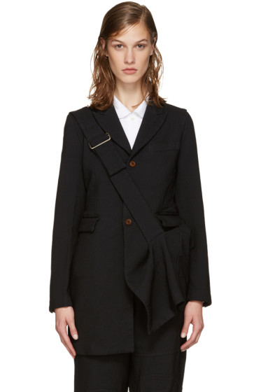 Comme des Garçons - Black Long Belted Jacket