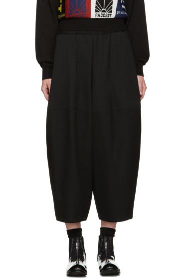 Comme des Garçons - Black Wool Volume Trousers