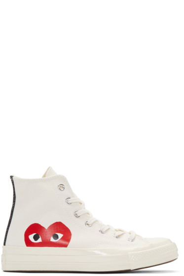 Comme des Garçons Play - Off-White Converse Edition High-Top Sneakers
