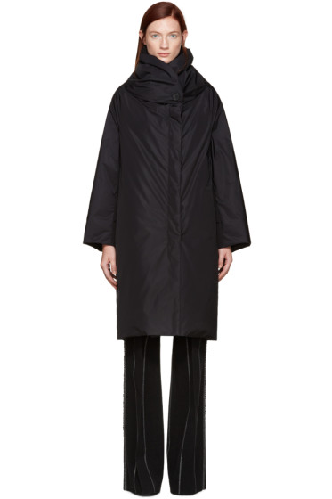 Jil Sander - Black Down Shawl Collar Coat