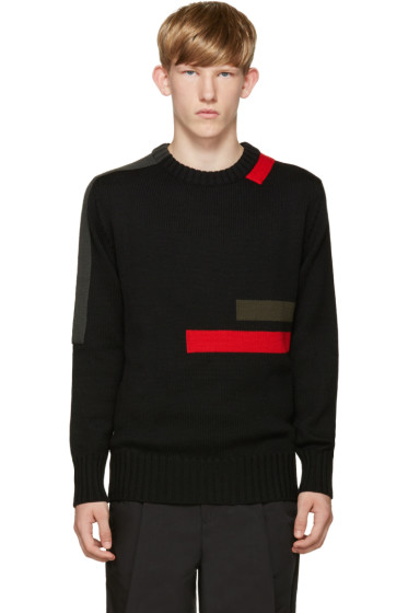 Jil Sander - Black Wool Stripes Sweater