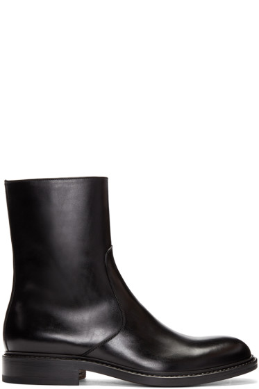 Jil Sander - Black Leather Boots