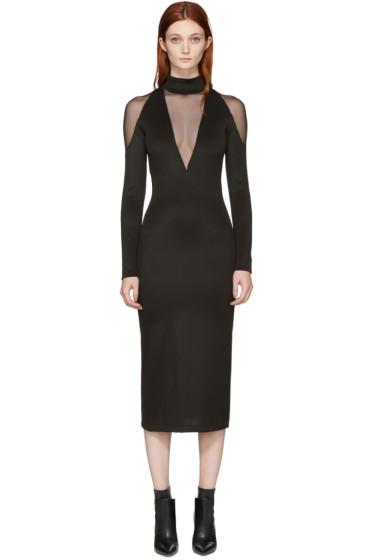 Balmain - Black Panelled Dress