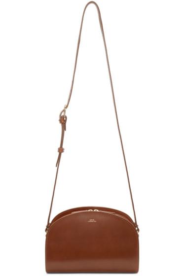 A.P.C. - Brown Half-Moon Bag