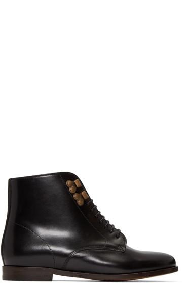 A.P.C. - Black Leather Françoise Boots