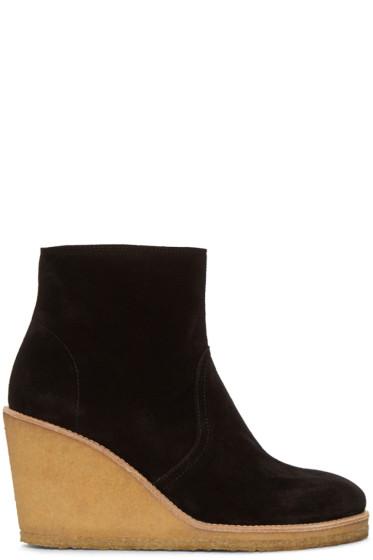 A.P.C. - Black Wedge Gaya Boots
