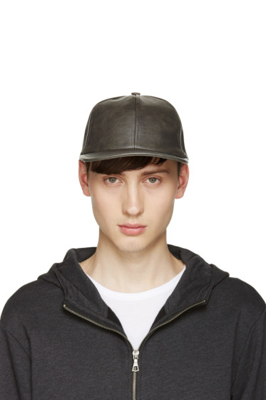 A.P.C. - Grey Faux-Leather Cap