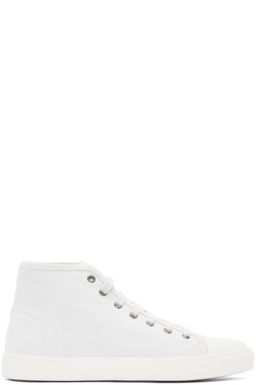 A.P.C. - White Suede Rod Tennis High-Top Sneakers
