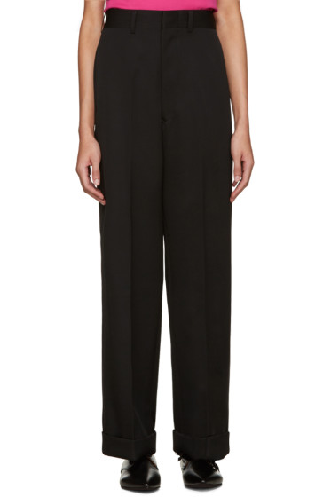 Junya Watanabe - Black Wide-Leg Wool Trousers