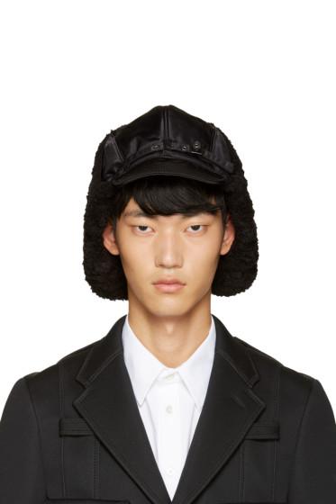 Junya Watanabe - Black Large Aviator Hat