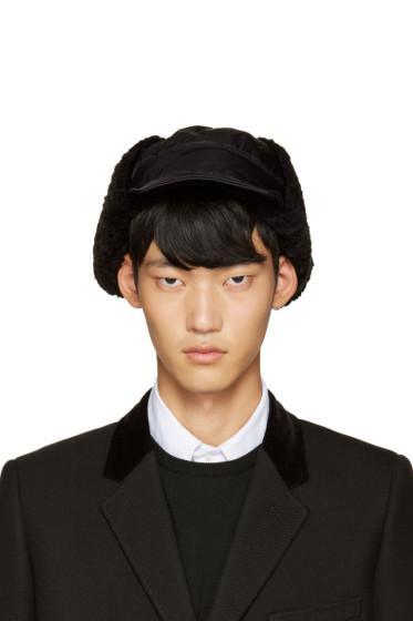 Junya Watanabe - Black Nylon Aviator Hat