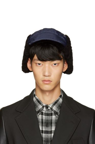 Junya Watanabe - Navy Nylon Aviator Hat