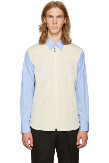 Junya Watanabe - Blue & White Knit Shirt