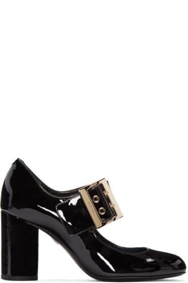 Lanvin - Black Patent Mary Jane Heels