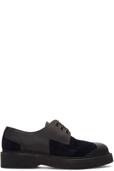 Lanvin - Black Matte Leather Derbys