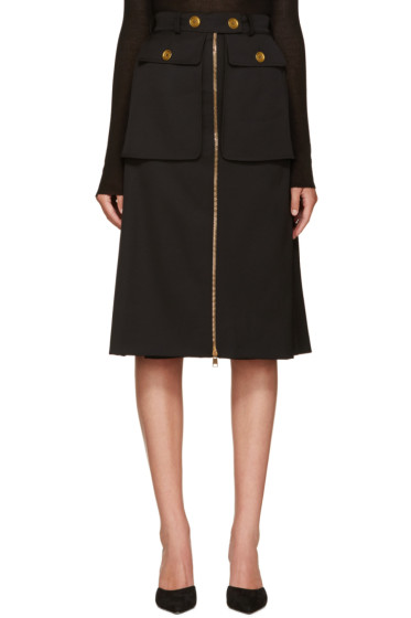 Alexander McQueen - Black Pocket Skirt