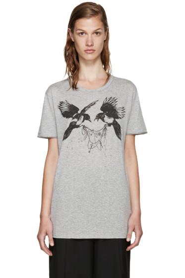 Alexander McQueen - Grey Ravens T-Shirt