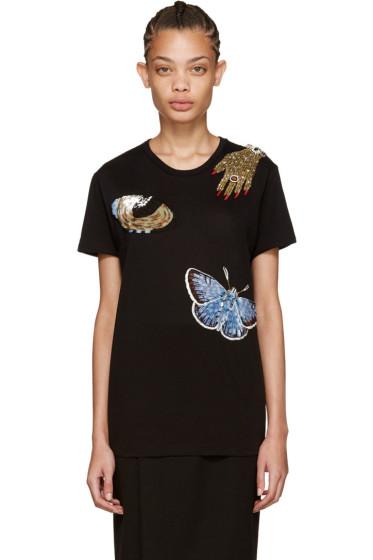 Alexander McQueen - Black Oversized Obsession T-Shirt