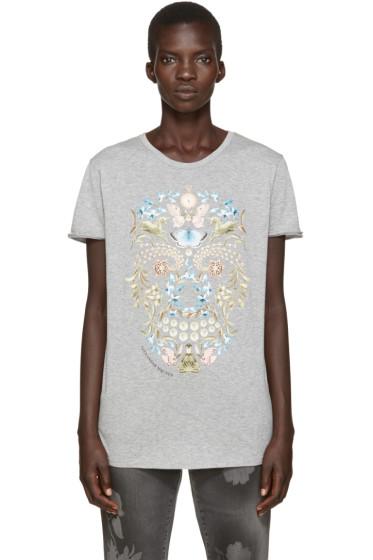 Alexander McQueen - Grey Obsession Skull T-Shirt