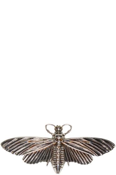 Alexander McQueen - Silver Moth Pin