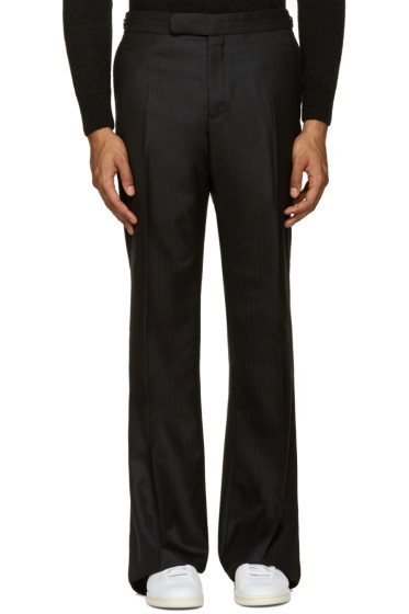 Alexander McQueen - Black Wool Wide-Leg Trousers