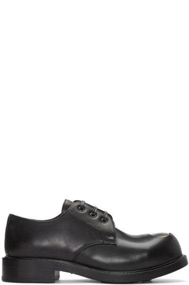 Alexander McQueen - Black Steel Toe Derbys