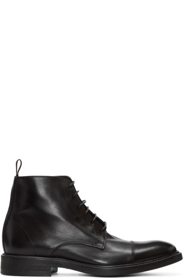 Paul Smith - Black Lace-Up Jarman Boots