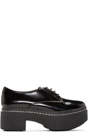 Opening Ceremony - Black Patent Platform Riyal Oxfords