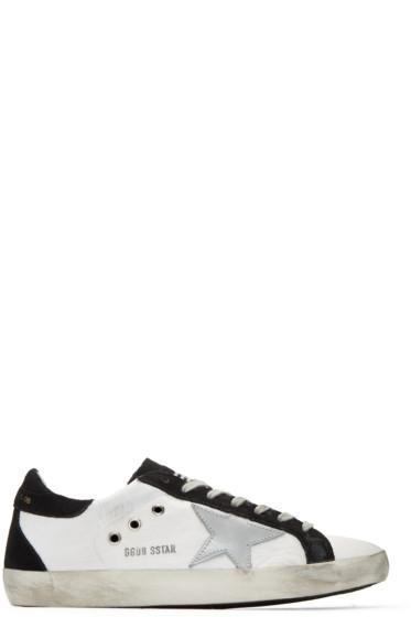 Golden Goose - White Nylon Superstar Sneakers