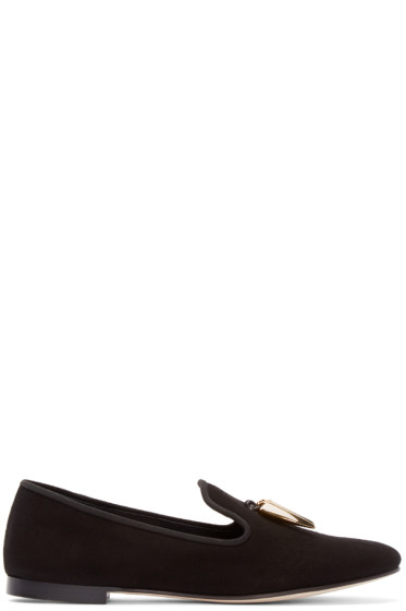 Giuseppe Zanotti - Black Shark Teeth Loafers