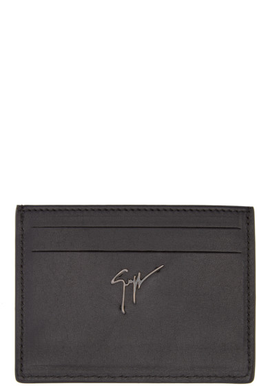 Giuseppe Zanotti - Black Studded Card Holder
